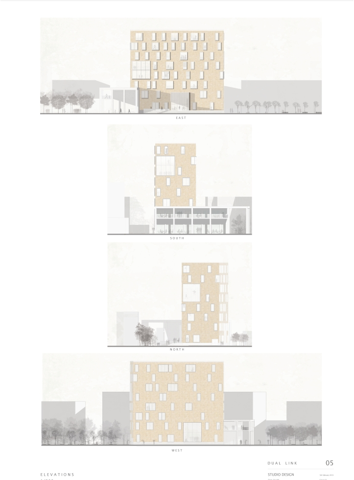 façade architecture graphic elevations